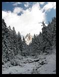 Verschneites Tschamintal, Grasleitenspitze
