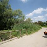 Rad kurz vorm offiziellen Radweg