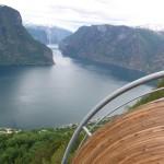 Aurlandsfjord vom Stegastein aus