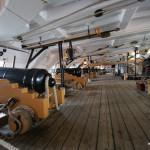Ein Geschützdeck der HMS Victory