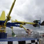 Kotzschleuder auf dem Pier