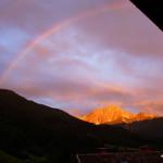Sonnenaufgang vom Balkon aus