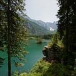 Schöner Seeblick aus dem Wald
