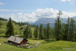Gherdenacia-Hütte und Heiligkreuzkofel