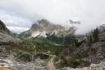 Blick zurück zum Pass mit Skibrücke