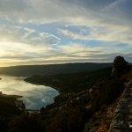 Sonnenuntergang hinter dem Lac Sainte-Croix 2