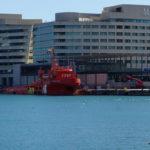 Rettungsschiff vorm WTC