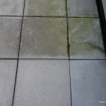 Halb geschrubbter Balkon