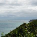 Blick bis zum Hafen von Arromanches