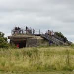 Touristisch aufbereiteter Bunker am Pointe du Hoc