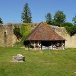 Echt jetzt: Alte Latrine vom Chateau d'Harcourt