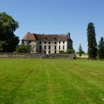 Chateau d'Harcourt: Gartenseite