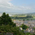 Aussicht über Honfleur und die Brücke von Tancarville