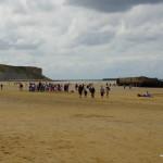 Strandleben inmitten der Geschichte