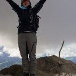 Annette im Gipfelglück