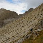 Blick zurück auf den Weg zum Ciampac