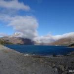 Tiefhängende Wolken über dem Lac de Mont Cenis