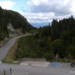Aussicht vom Hotelzimmer, Mont Blanc verhüllt