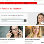 Screenshot Vodafone Webseite