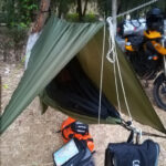 Camping light am Morgen
